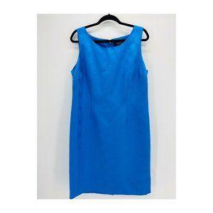 Kasper Blue Circle Print Sheath Dress
